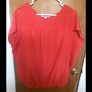 ⚡️Ann Taylor LOFT | Sleeveless Red Blouse | Size M